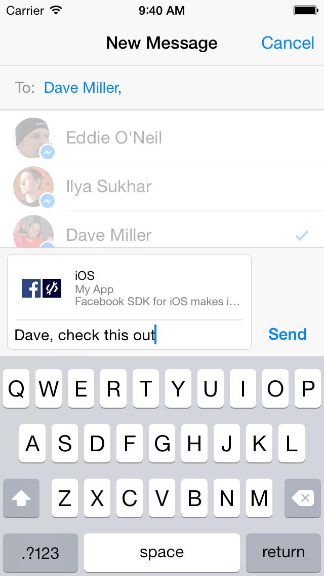 Facebook Messenger Share Dialog