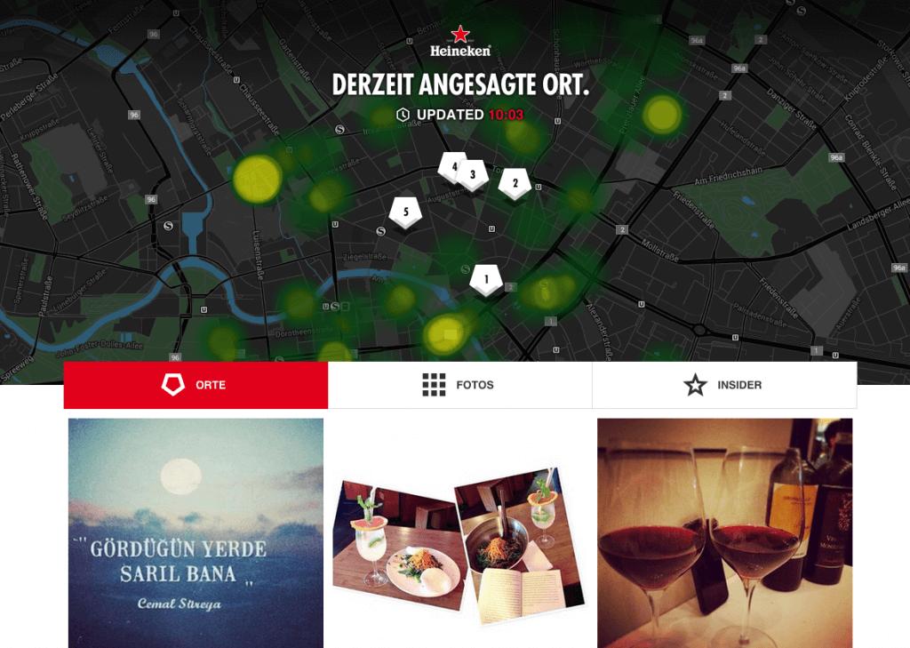 Heineken - Responsive Kampagnenseite für Open Your City