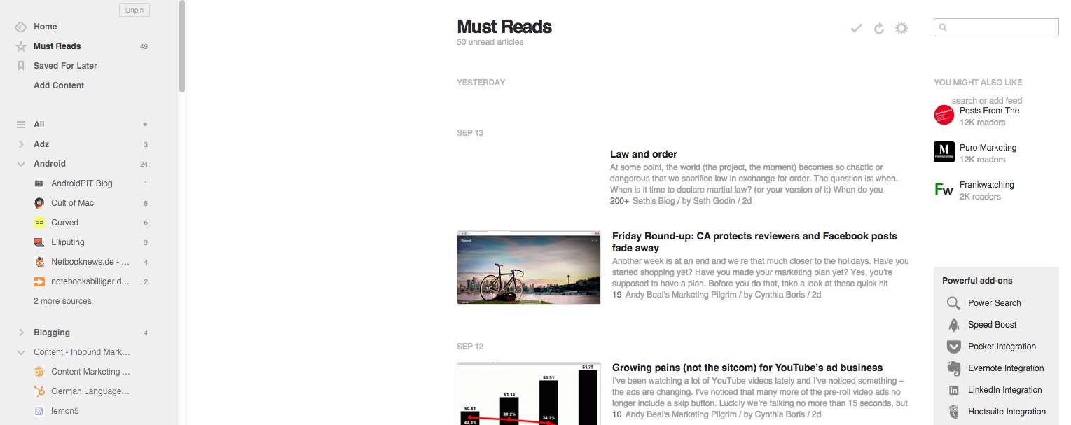 RSS Feeds leben - 40 Mio. Quellen und 10 Mrd. gelesene Artikel bei Feedly
