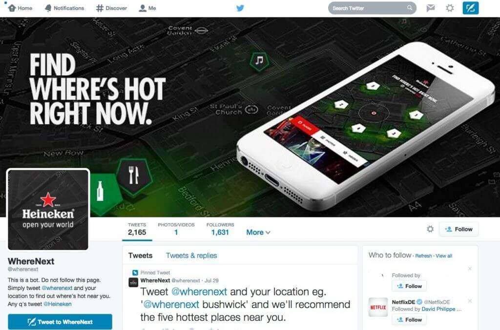 Twitter Kampagne - Heineken Open Your City