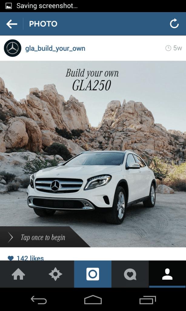 Instagram Kampagne - Mercedes Auto-Konfigurator I