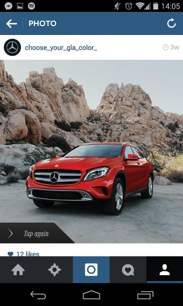 Instagram Kampagne - Mercedes Auto-Konfigurator III
