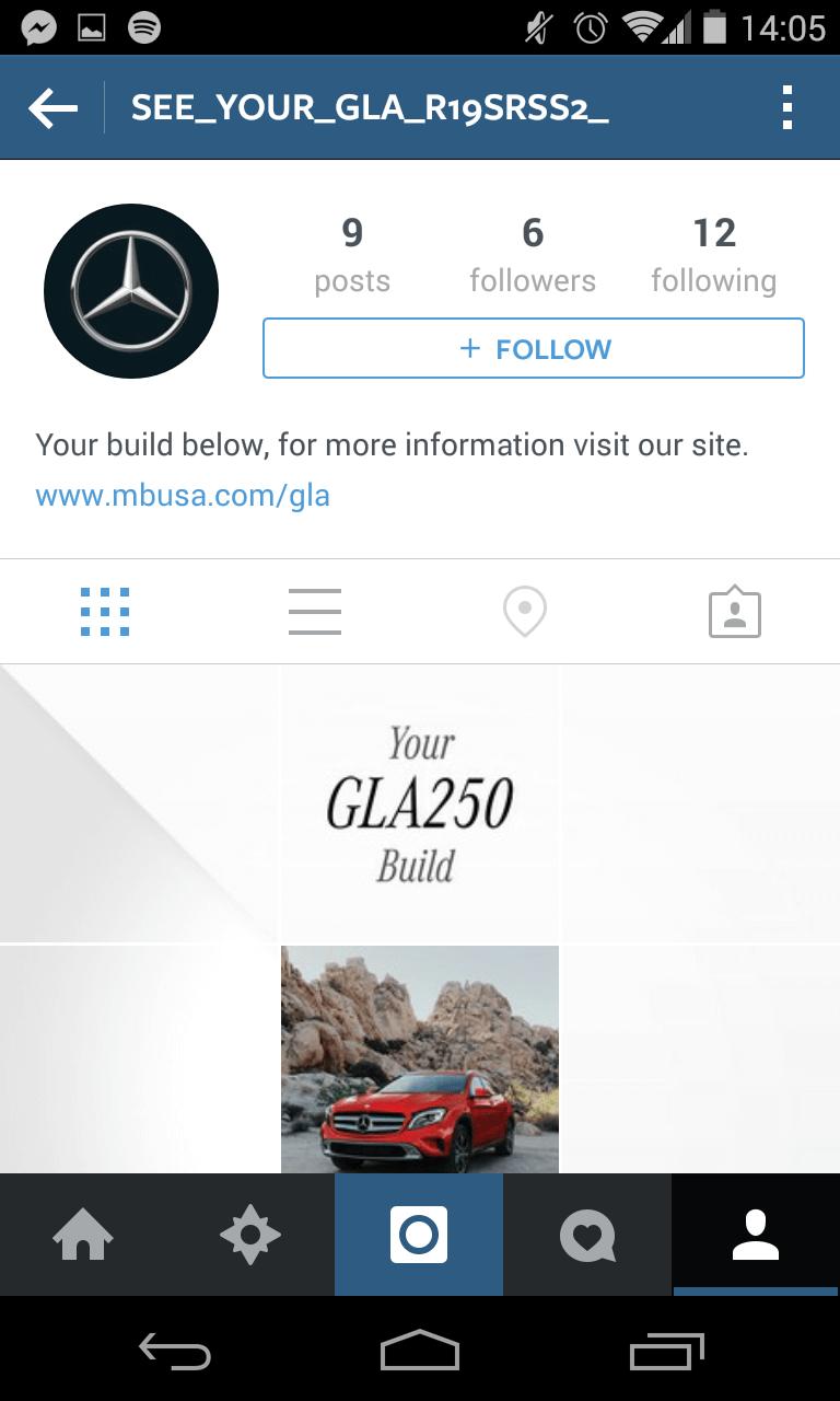 Instagram Kampagne - Mercedes Auto-Konfigurator V