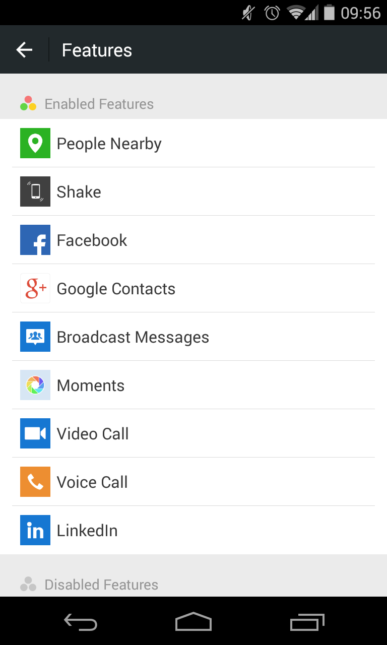 We Chat - Zusätzliche Features mit LinkedIn