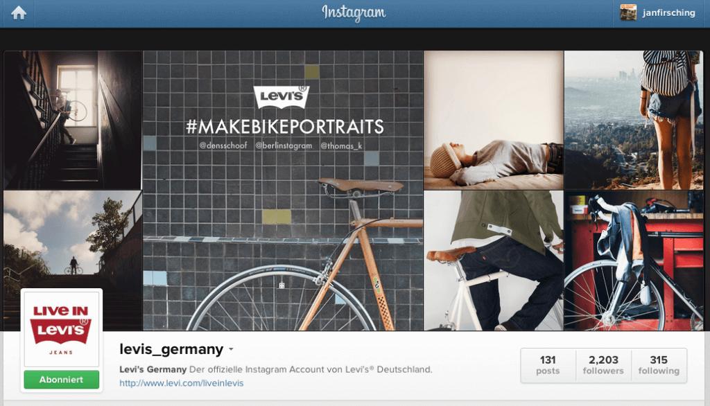 Instagram Kampagnen für Unternehmen - Levi's Germany Hashtag und Influencer