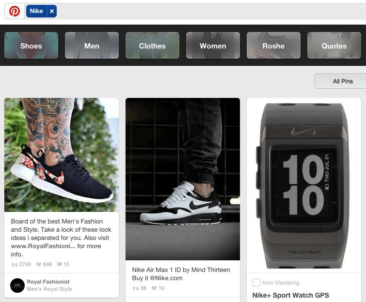 Pinterest Marketing - Guided Search sortiert Inhalte nach Interessen und Zielgruppen