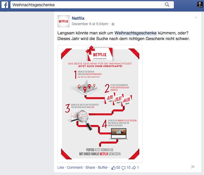 Facebook Suche - Keyword im Text des Beitrages