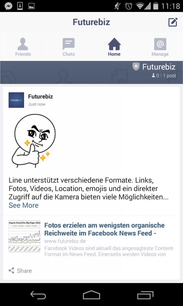 Line Mobile Messenger - Unternehmensprofile erstellen und Features III