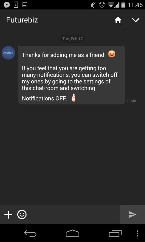 Line Mobile Messenger - Unternehmensprofile erstellen und Features VI