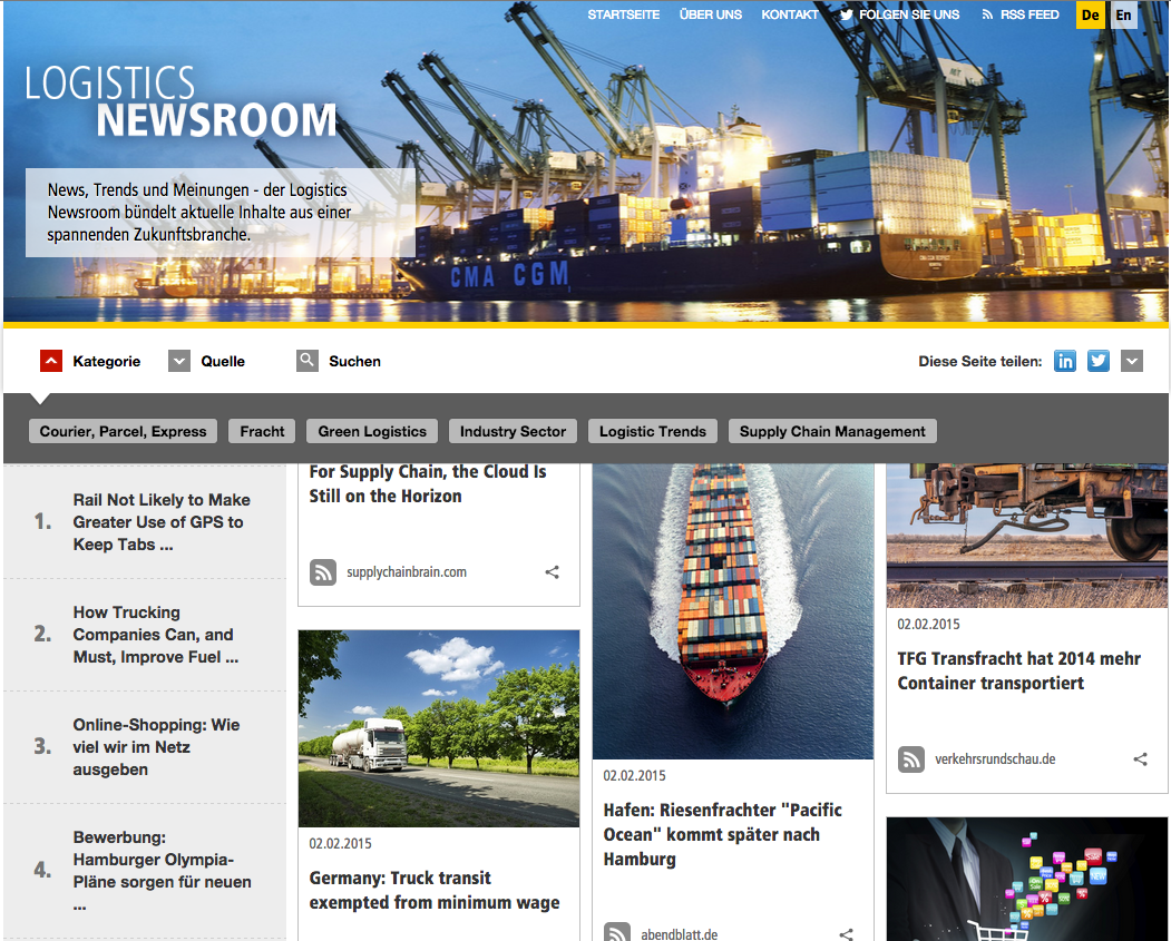 Social Media Hub - Newsroom DHL Logistics