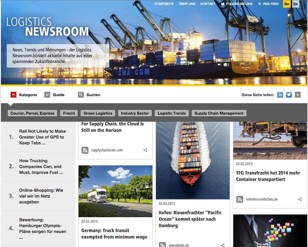 Social Media Hub - Newsroom DHL Logistics