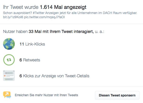 Twitter Statistiken - Tweet-Aktivität jetzt auch für das Web verfügbar