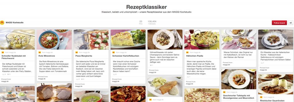 Pinterest Deutsche Unternehmen - Hohe Reichweite mit verschiedenen Boards