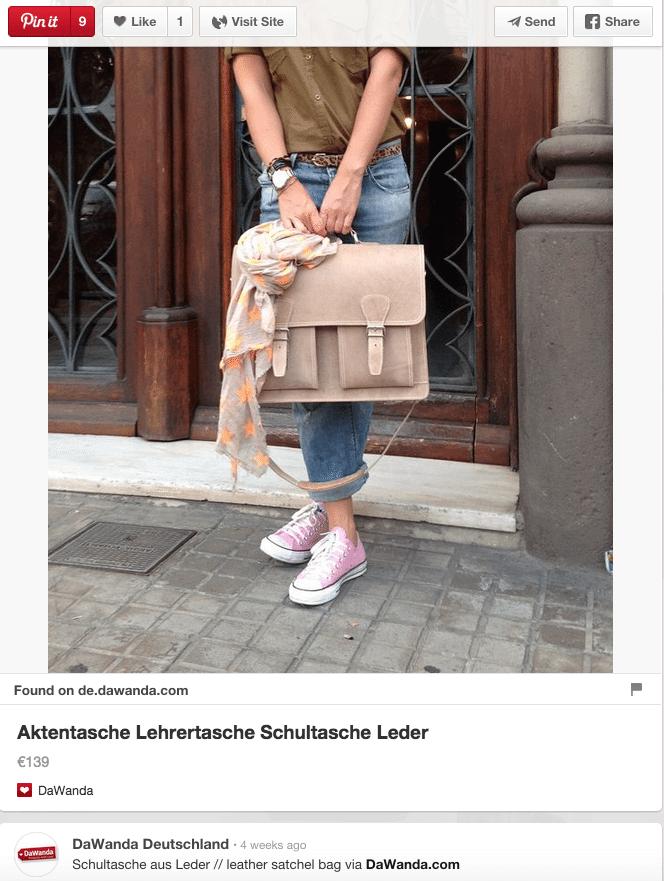 Pinterest Deutsche Unternehmen - Preisinformationen durch Rich Pins für den E-Commerce