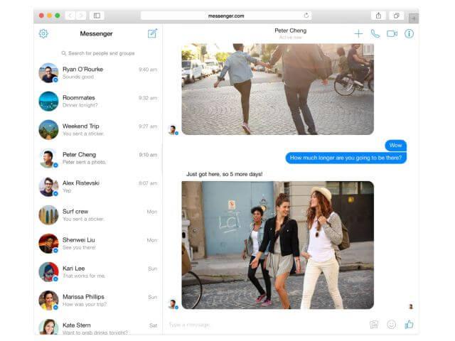 Facebook Messenger - Web-Version als Ergänzung zur Messenger Plattform
