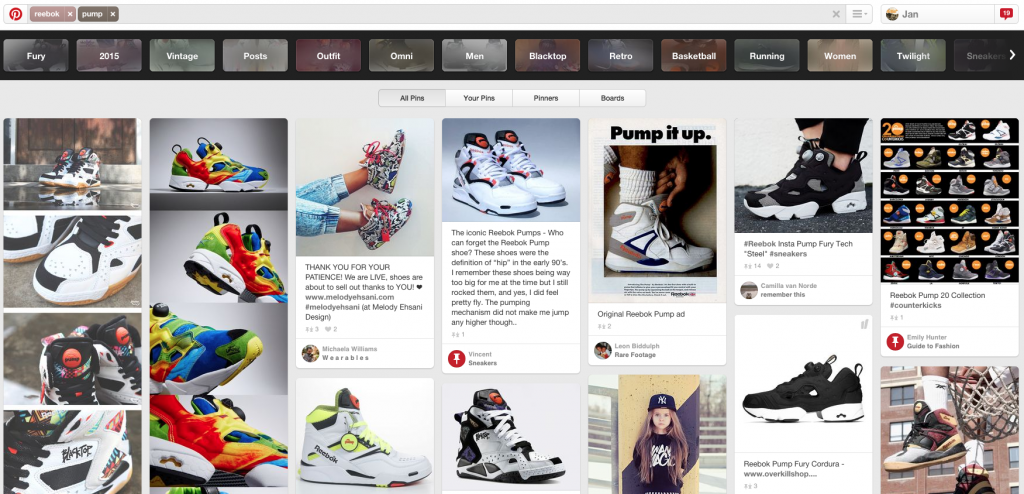 Pinterest Guided Search - Visuelle Suchmaschine Pinterest