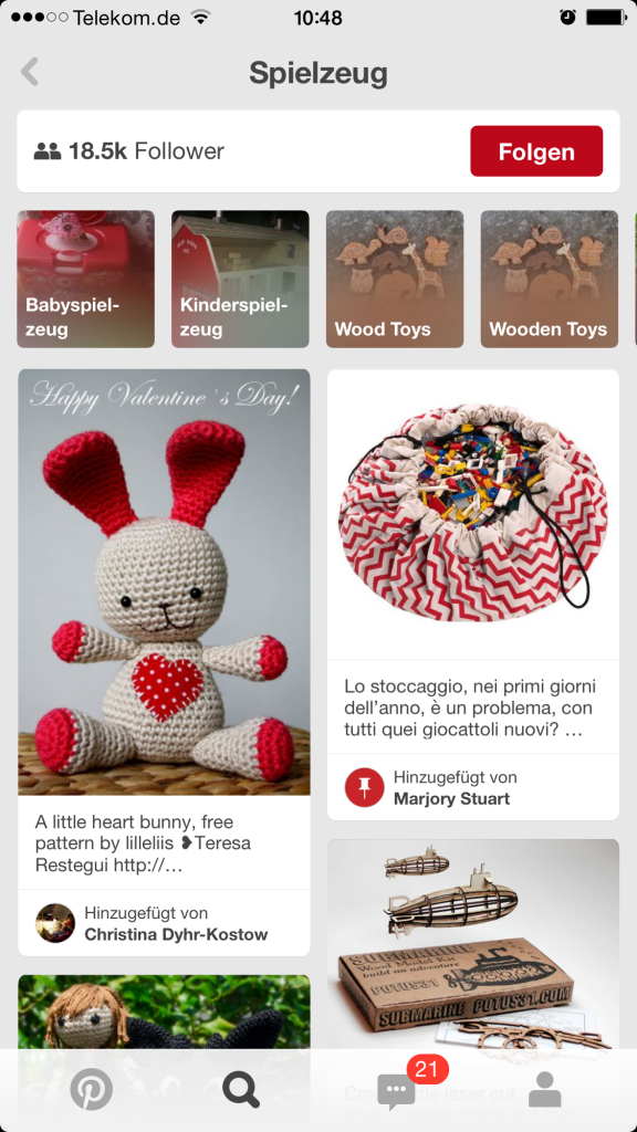 Pinterest Guided Search - auf Mobile Suche optimiert