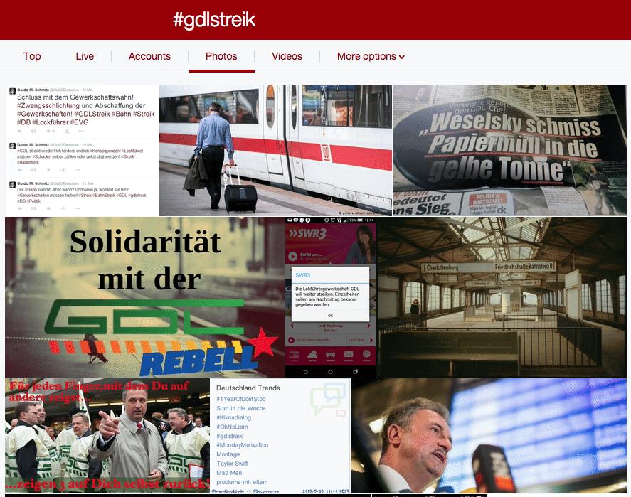 Twitter Suche - Prominentere Darstellung von Fotos zu Hashtags und Suchbegriffen