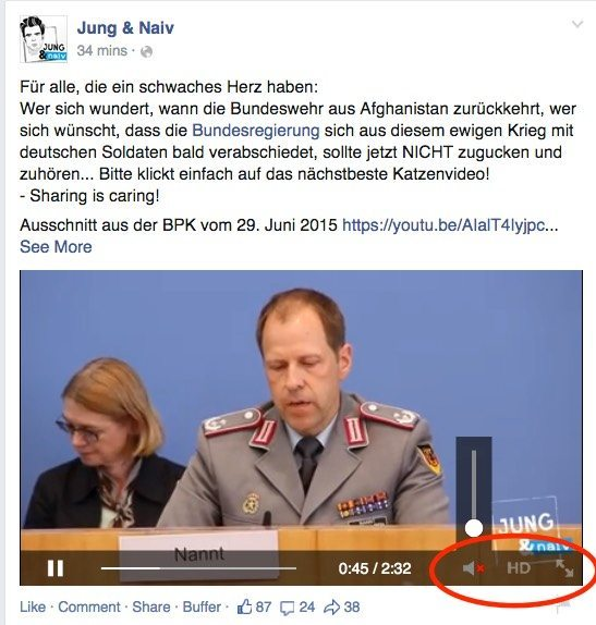 Facebook Videos - Faktoren News Feed Algorithmus