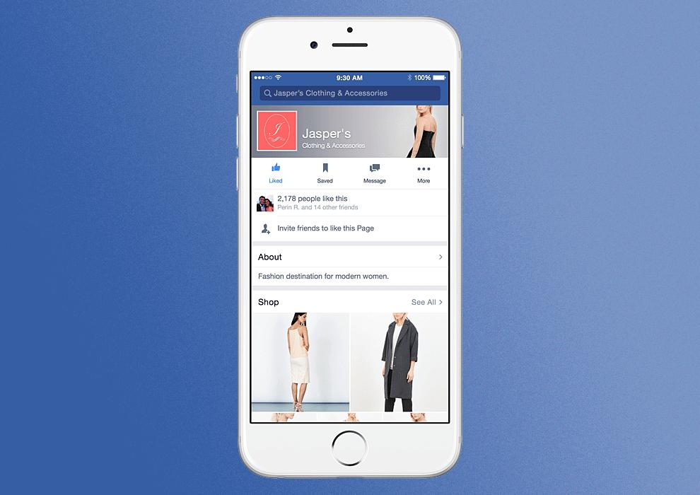 Facebook Shop - Neues Feature- Shops direkt auf Facebook Seiten.