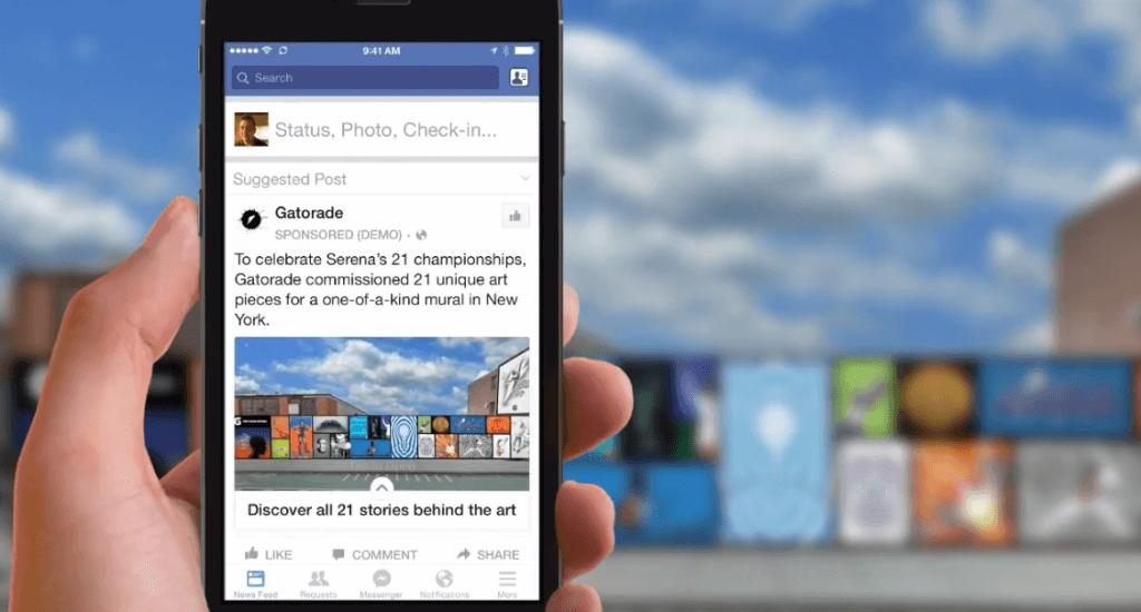 Facebook Mobile Anzeigen - Neues Anzeigenformat im Stil von Instant Articles