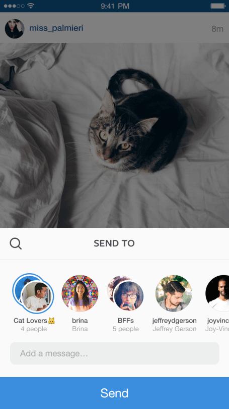 Instagram Fotos und Videos teilen - Instagram Direct
