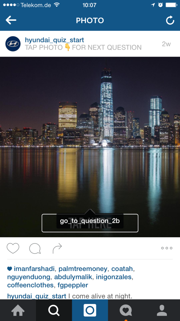 Instagram Kampagnen Beispiel von Hyundai