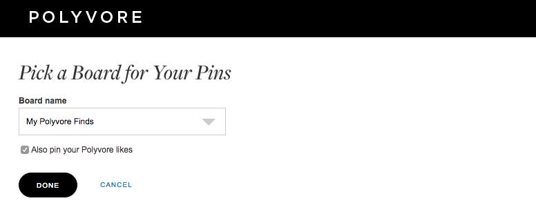 Pinterest API - mehr Pins und Traffic für Polyvore durch Pinterest Sharing