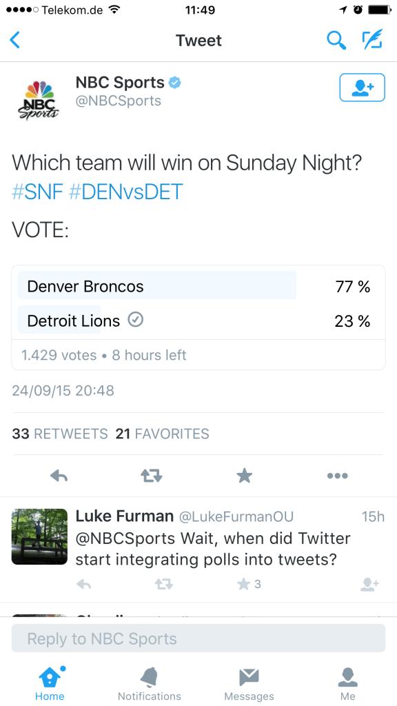 Twitter Umfragen - Polls in der Twitter Timeline
