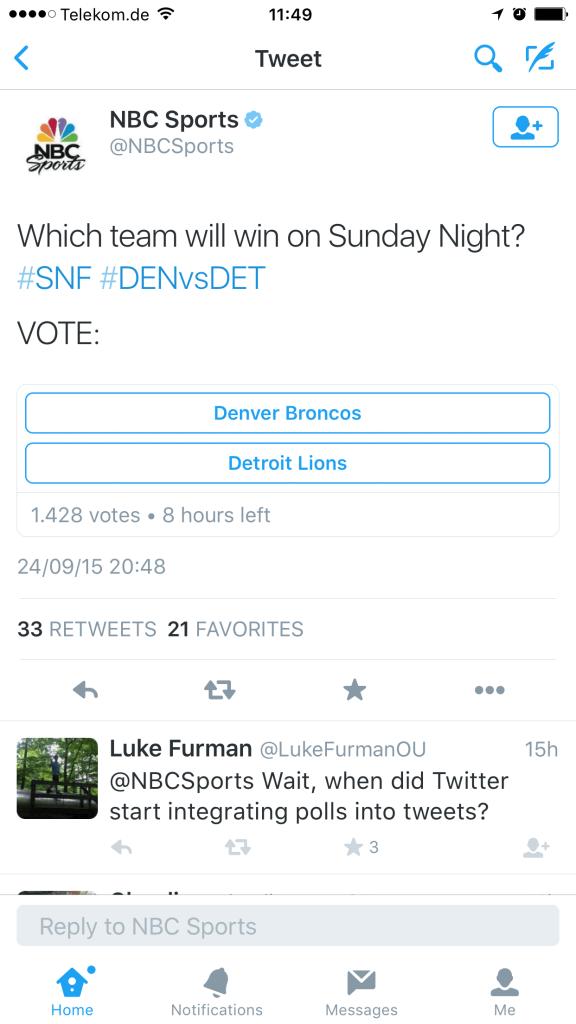 Twitter Umfragen - Twitter testet Poll Feature