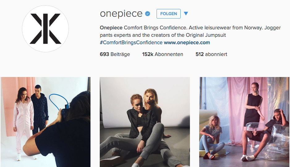 Influencer Marketing mit OnePiece auf Instagram