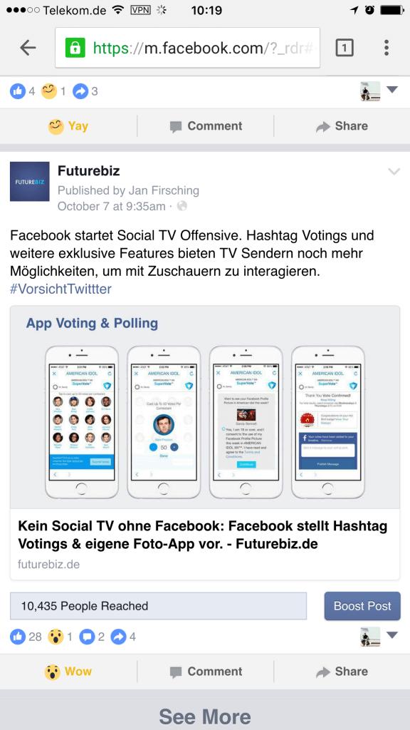 Facebook Reactions - Mit Emotionen und Emojis auf Facebook Beiträge reagieren II