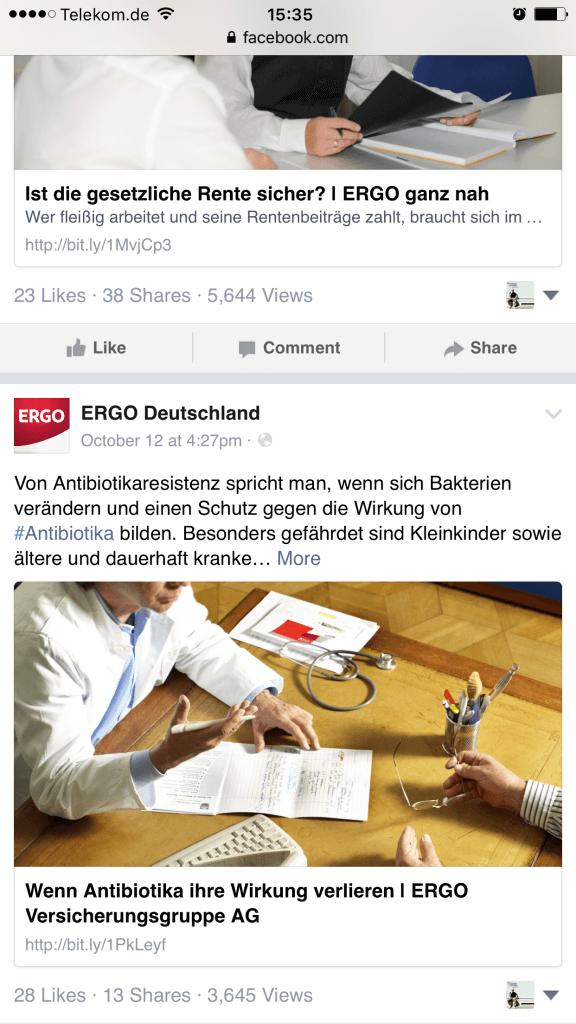 Facebook Seiten - Facebook zeigt Aufrufe von Beiträgen öffentlich an X