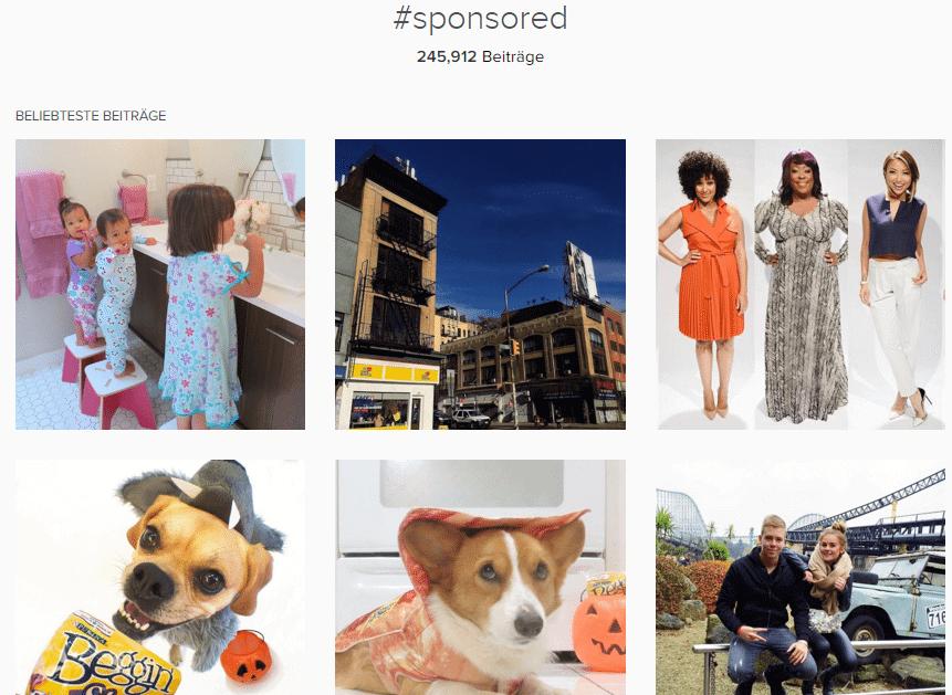 Influencer Marketing - Volumen von sponsred Posts auf Instagram