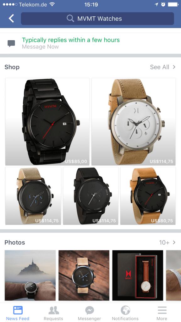 Facebook Commerce - Facebook Shops für Facebook Seiten