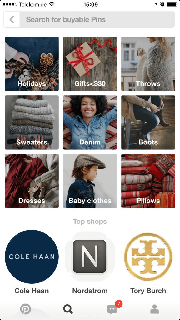 Pinterest Commerce - Social Commerce Shops mit Buyable Pins