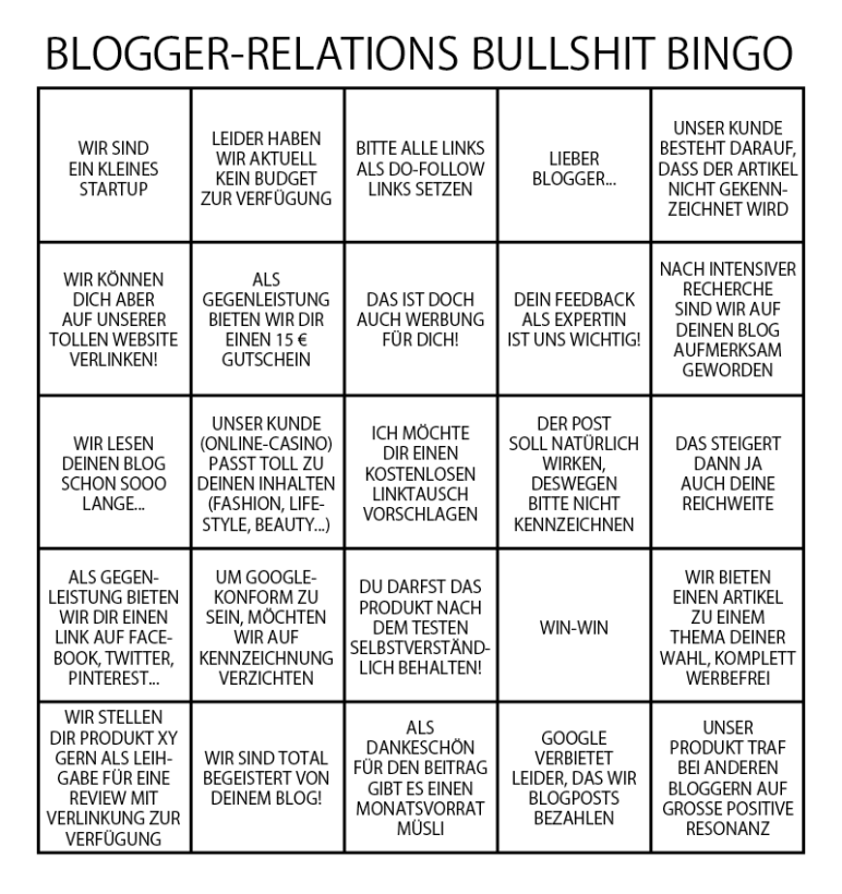 Blogger-Influencer-Relations-Bullshit-Bingo