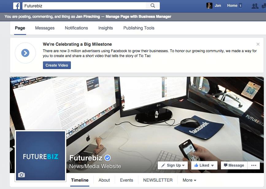Facebook Deine Business Story