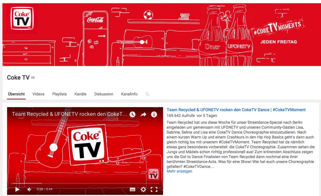 YouTube Marketing für Unternehmen - Best Practice Beispiel CokeTV