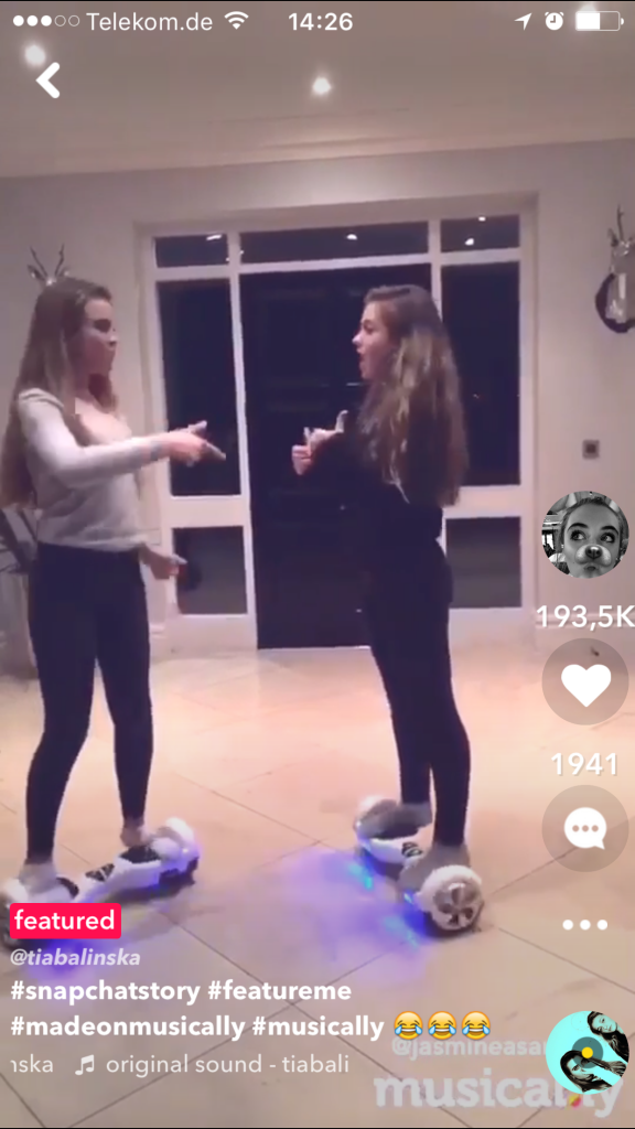 Erfolgsstory musical.ly Instant music video