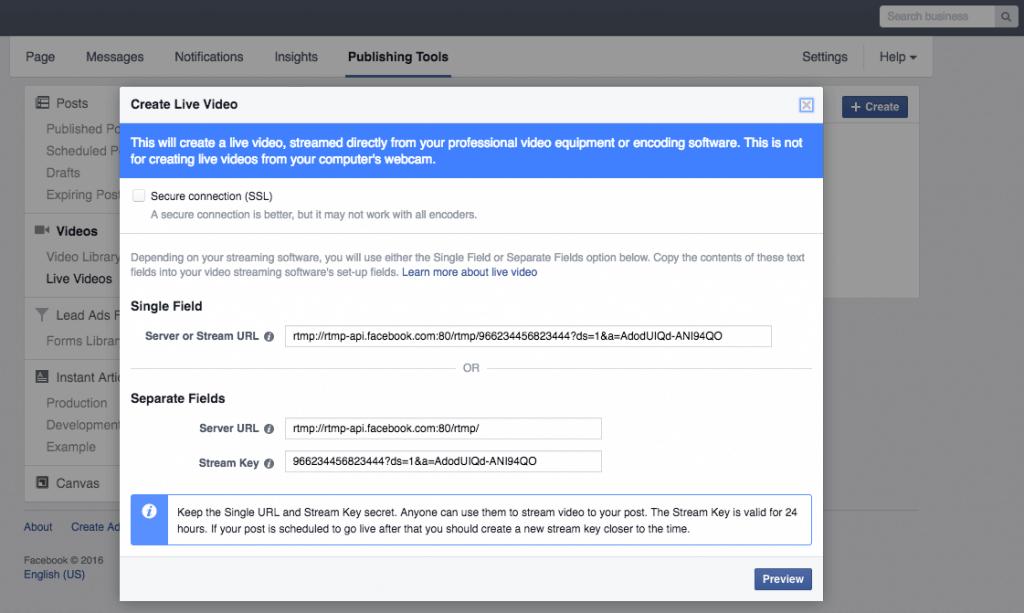 Facebook Live Video - Livestreams über Business Manager veröffentlichen