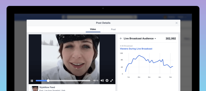 Facebook Live Video - Statistiken zur Performance