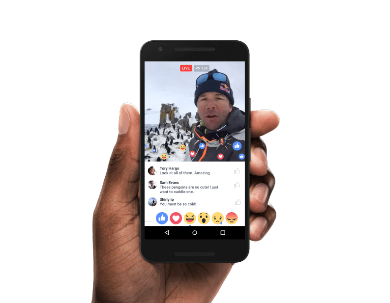 Facebook Live Video Tab für iOS und Android