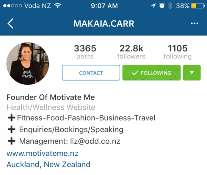 Instagram Unternehmensprofile - Kategorien Instagram Profile