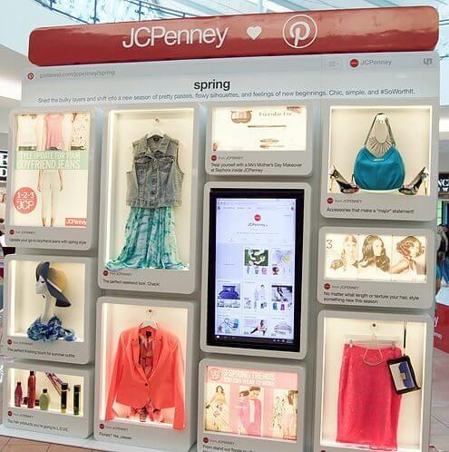 Pinterest Board am PoS mit JCPenney