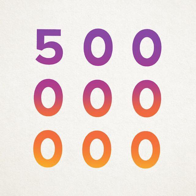 Instagram Nutzerzahlen - 500 Mio Nutzer