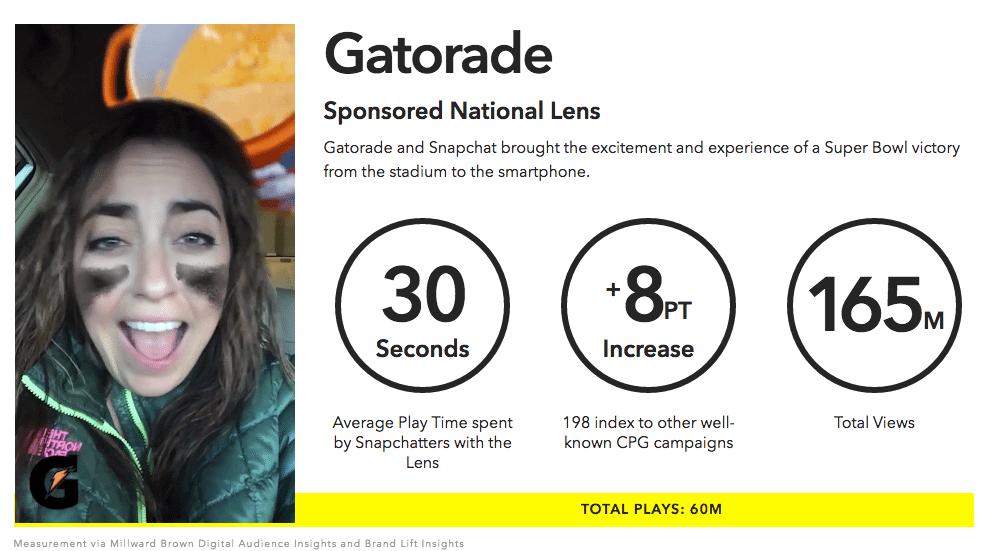 Snapchat Kampagnen - Snapchat Anzeigen Beispiel Sponsored Lenses
