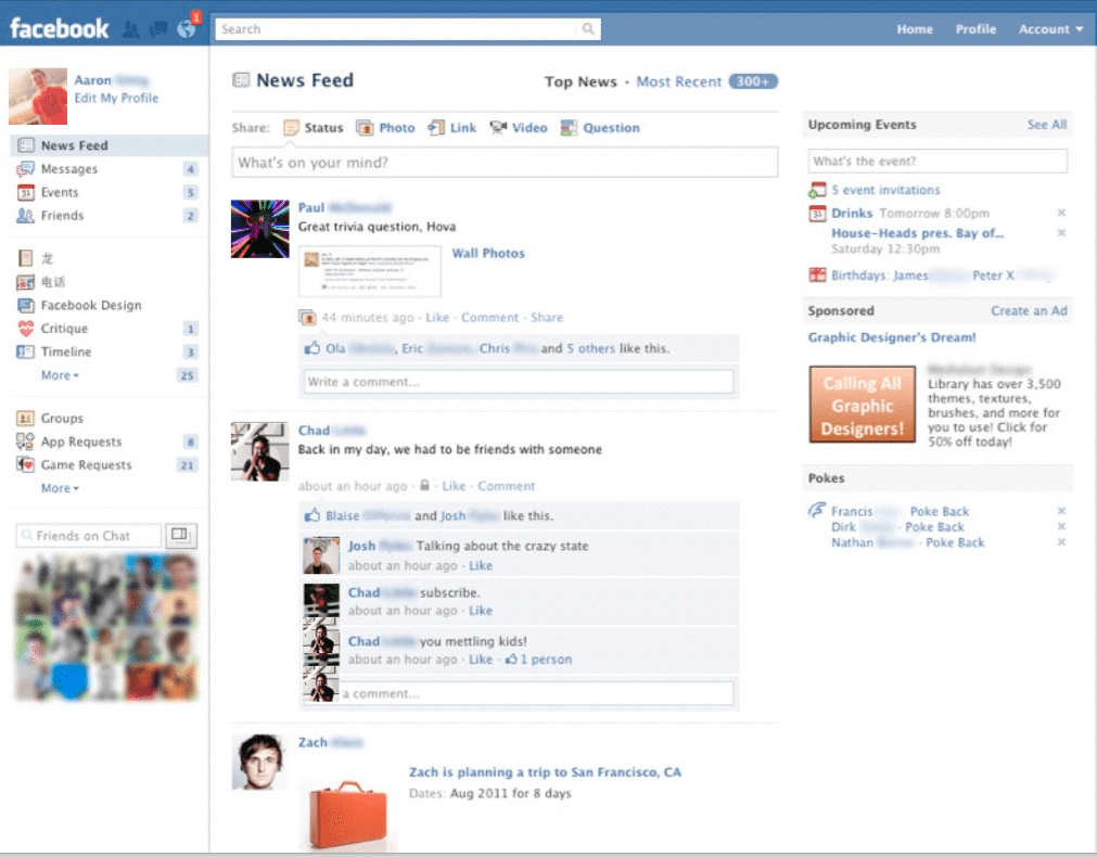 Facebook News Feed 2010