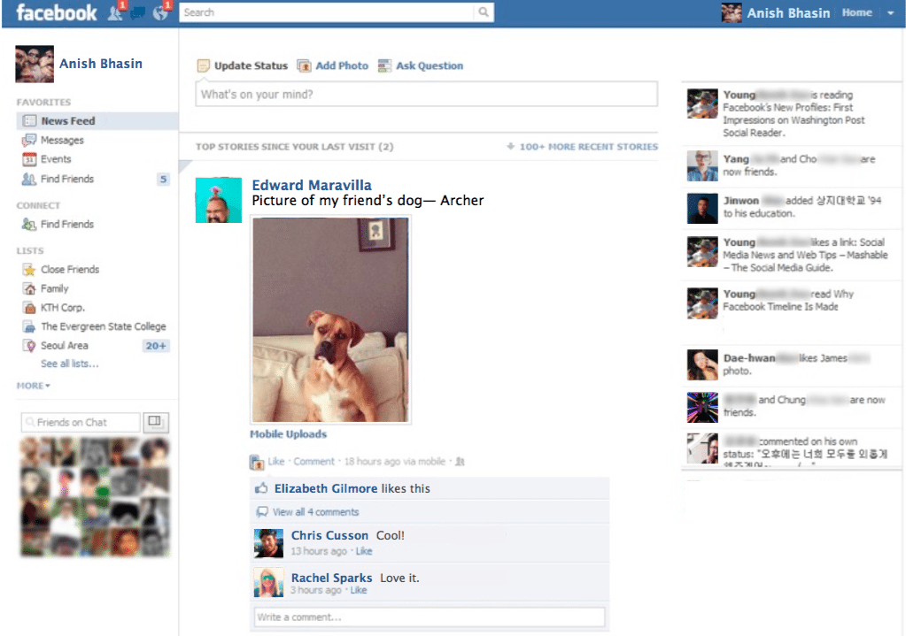 Facebook News Feed 2012