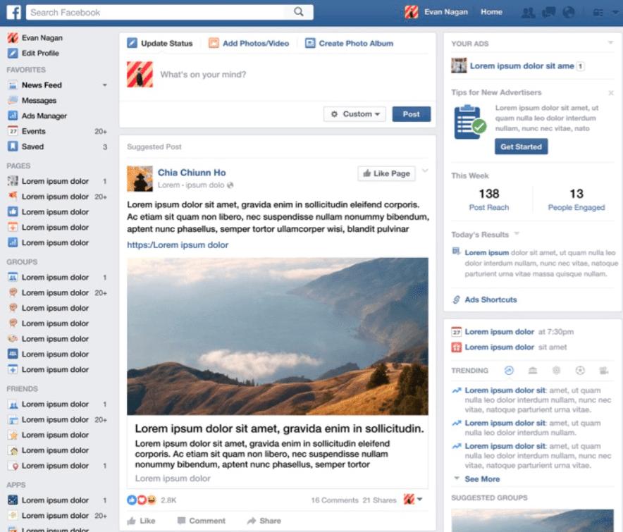 Facebook News Feed 2016